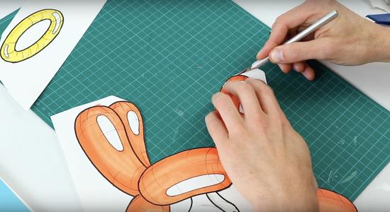 Cut Out Artwork and Glue Onto Foam Board