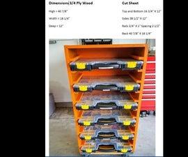 DIY Organizer for HarborFreight Storage Boxes