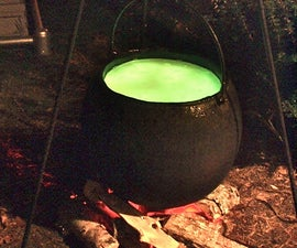 Halloween Full-size Bubbling Cauldron Prop
