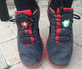 Glowing Space Invader Shoe Lace Accessory