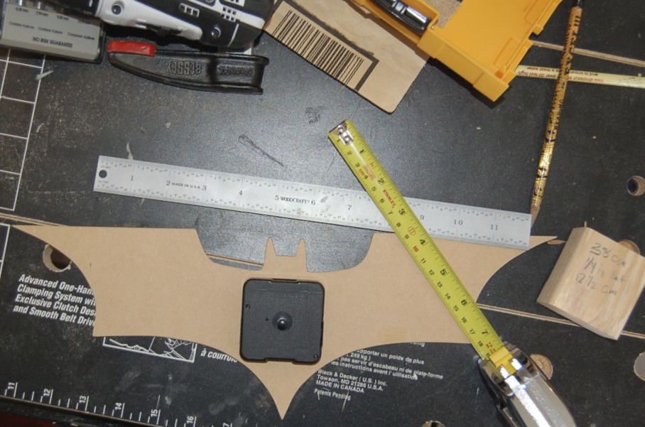 Picture of Drill Hole for Clock Mechanism