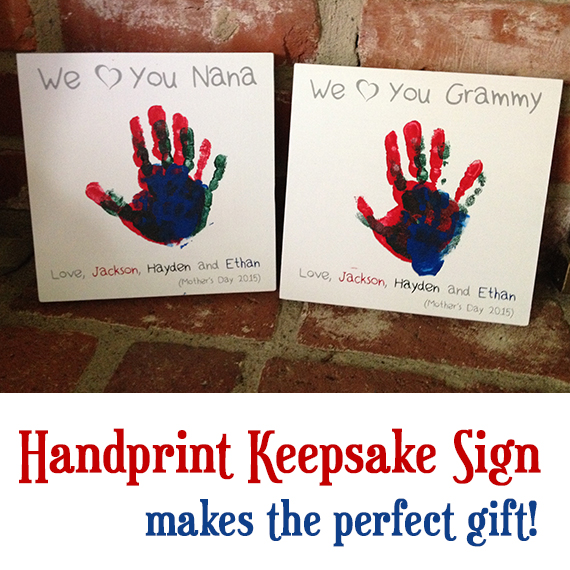 Picture of Keepsake Hand Print Sign - GREAT GIFT