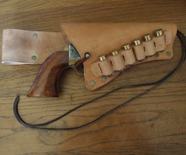 Revolver Holster With Bullet Band