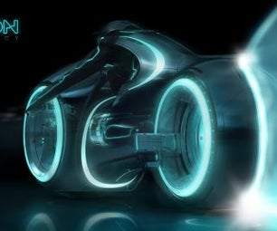 Assembled Lightcyle in Tron: Legacy