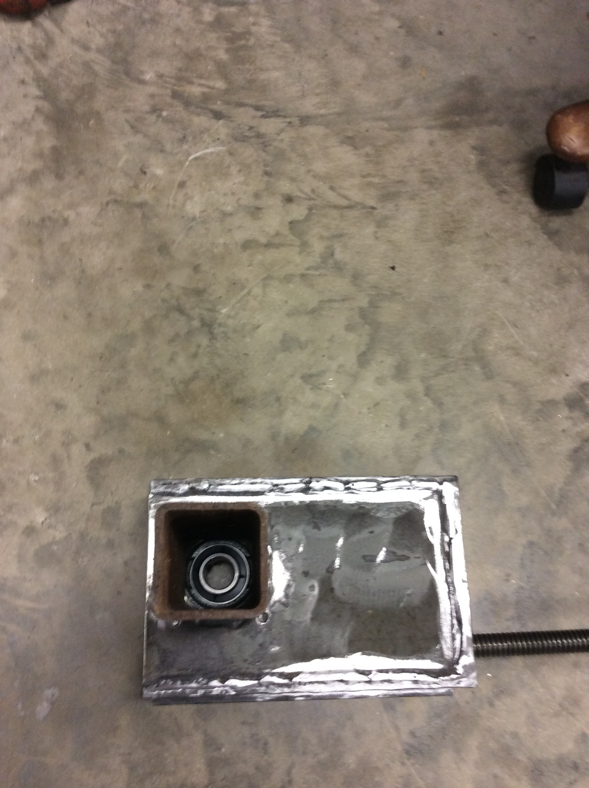 Picture of Bandsaw Blade Tensioner Box & Mounting of the Right Axle Assembly
