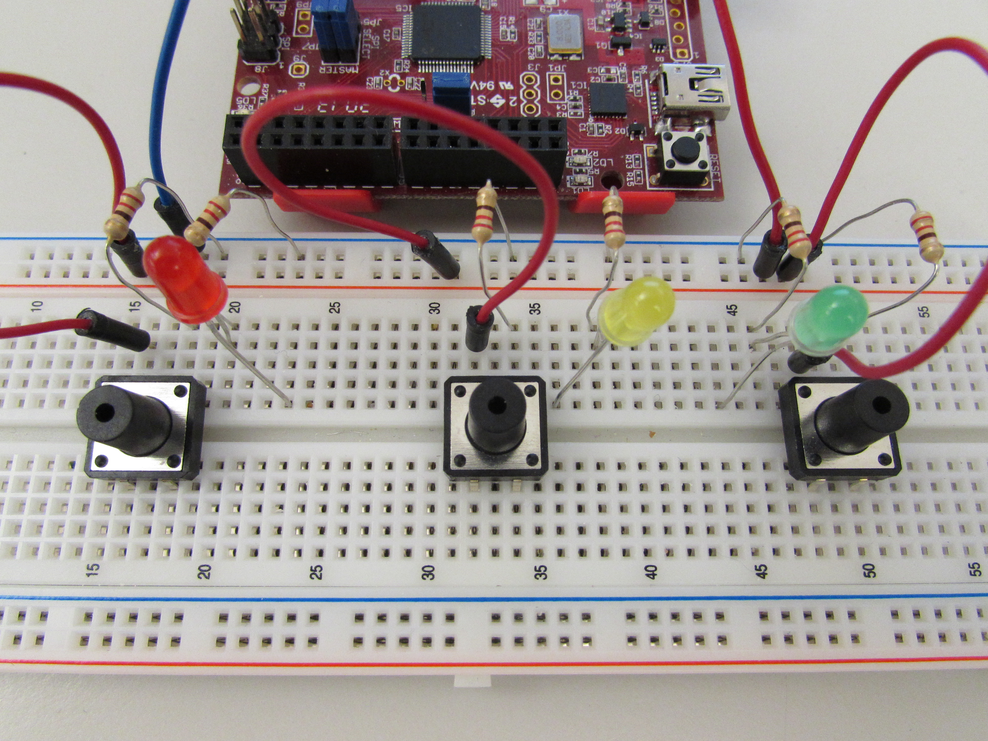Picture of Setting Up the Circuit- LEDs and Digital Signals