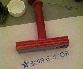 Laser Engraved Rubber Stamp