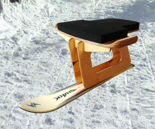 DIY Ski Bob or Ski Sled - Ski Rodel selber bauen