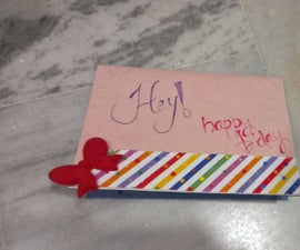 home made b'day greeting card(pop up)