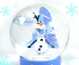 DIY Christmas Glow Frozen Snowball !! Make Olaf Elsa Snow Globe !