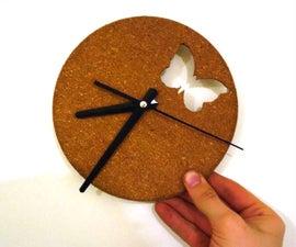 Butterfly Cork Clock