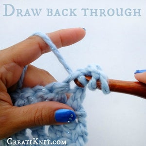 Draw Your Yarn Over Back Through the Stitch.