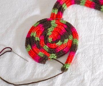 Attach Bun 1 to Headband