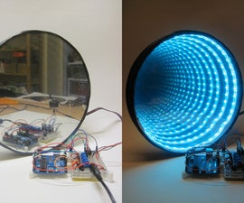 Arduino-controlled RGB LED Infinity Mirror