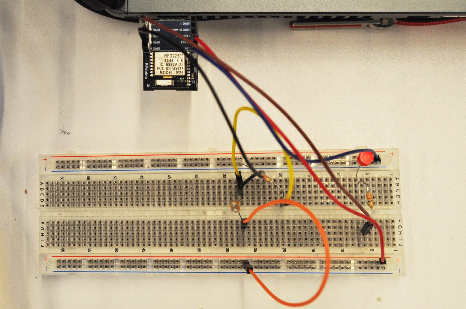 Picture of Bluetooth Controlled LED With Analogue LDR Input for TfCD
