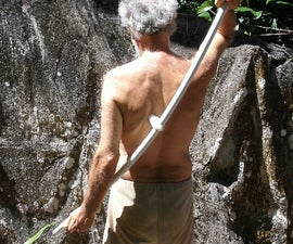 PVC MASSAGE STICK  -- for do-it-yourself back massage