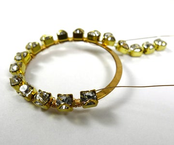 Wrap Chain Onto Brass Ring
