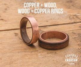 Copper + Wood Rings