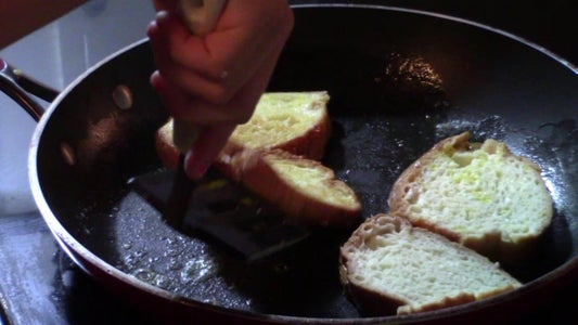 Dip Bread in Mix and Begin to Cook