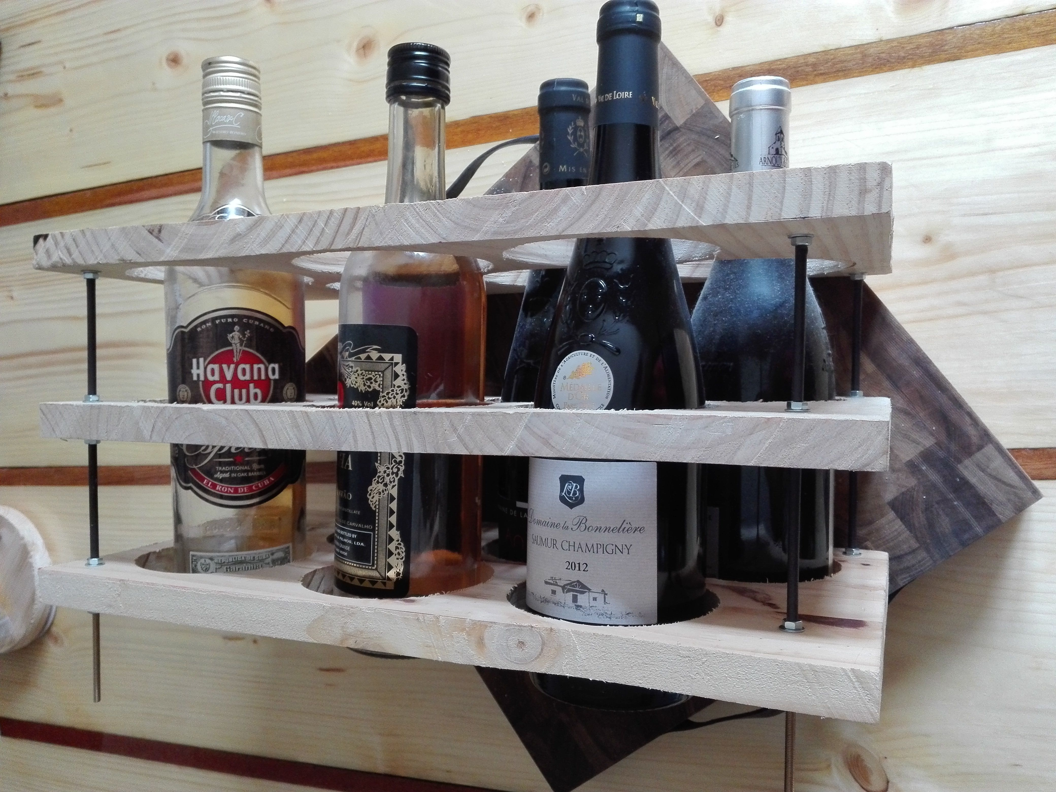 Picture of Wooden Wine Rack and Coaster (Works With Water Too But It's Less Fun..)