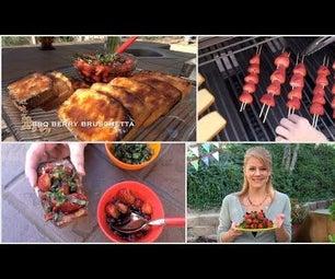 Barbecued Berry Bruschetta