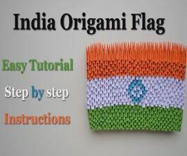 India 3D Origami Flag