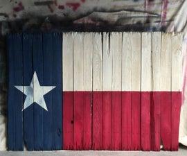 Rustic Texas Flag - Pallet Wood