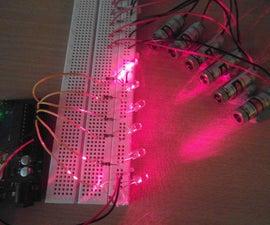 Quick Arduino MIDI Laser Harp