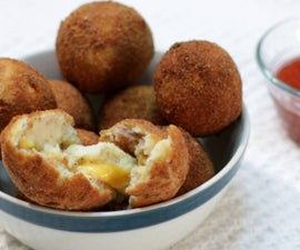 Bacon and Cheese Mashed Potato Balls