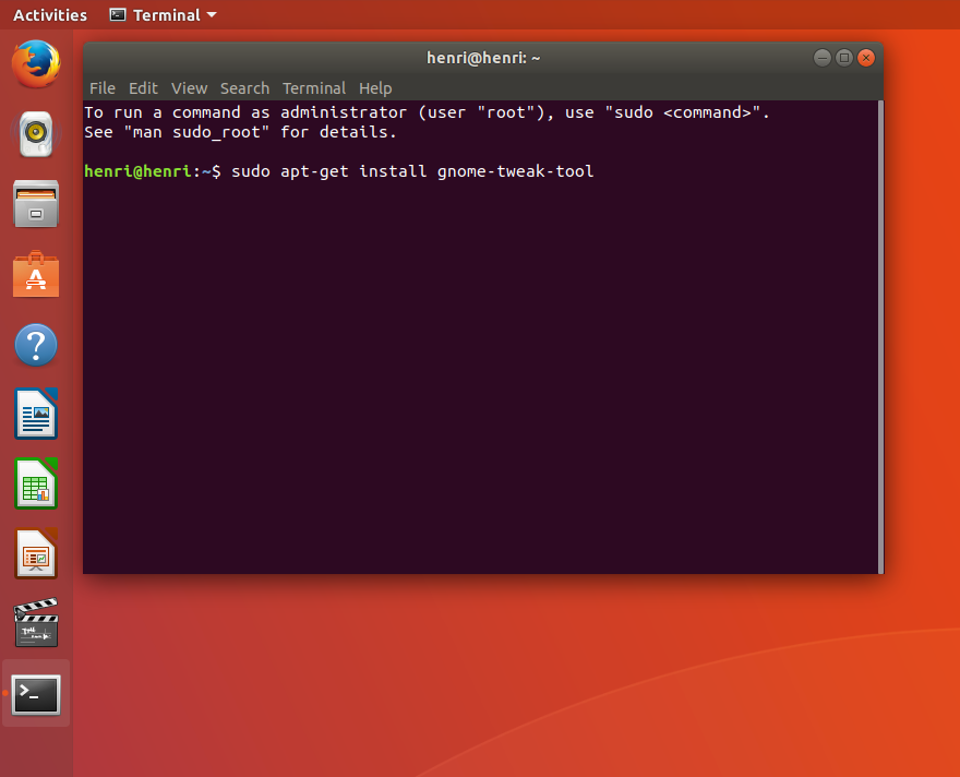 Picture of Step 1: Install Gnome Tweak Tool