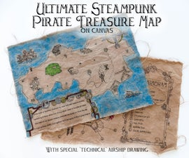 Ultimate Steampunk Pirate Treasure Map