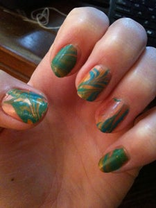 tiedye your fingernails  7 steps with pictures