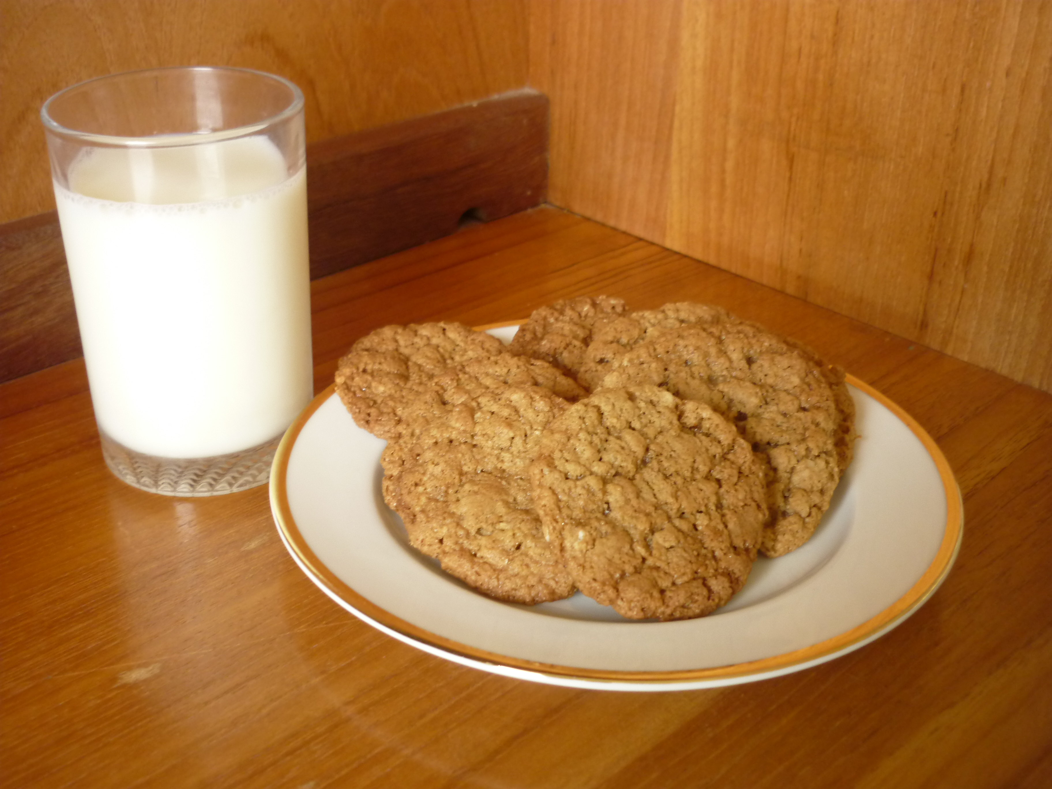 Picture of Spicy Ginger and Oatmeal Cookies