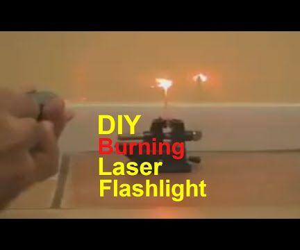 Burning Laser Flashlight