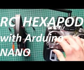 RC Simple 3 Servos Hexapod Walker