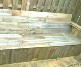 Transforming Old Pallets Into a Garden Bench