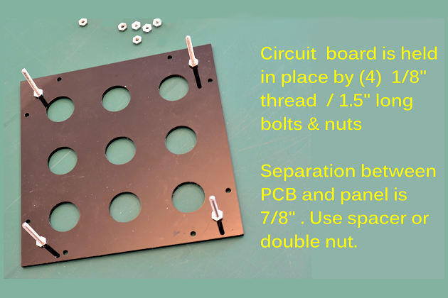 Picture of PCB Board to Top Panel