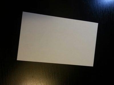 Find a 3x5 Index Card.