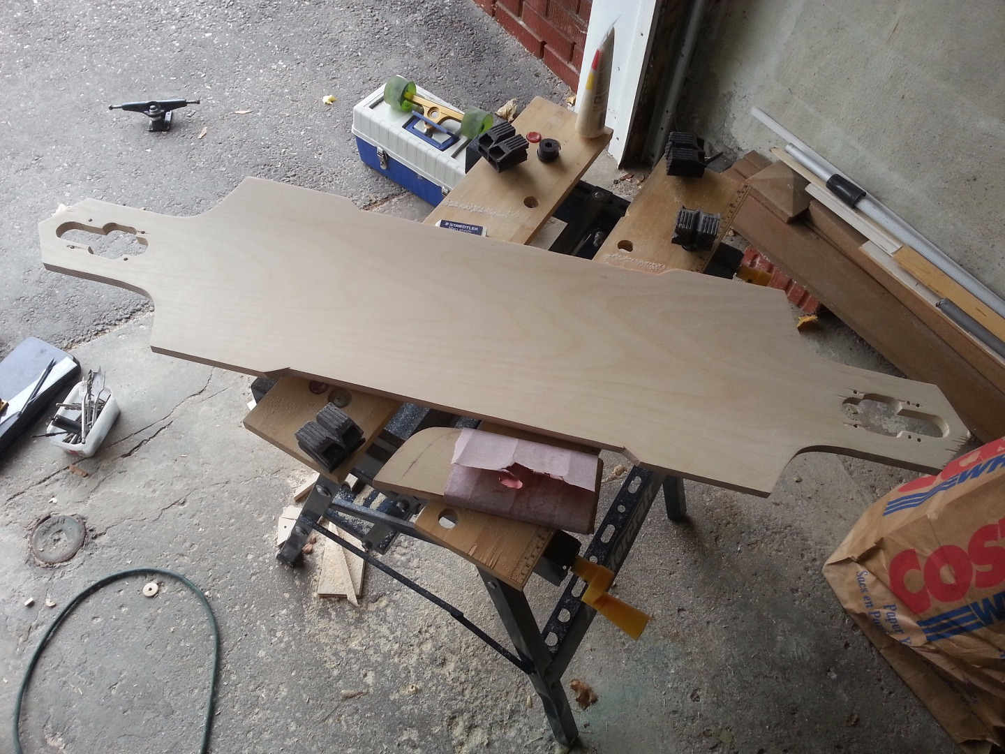 Picture of Cut Out the Deck With a Jigsaw and a Drill