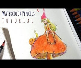 How to Draw Autumnal Fairy - Watercolor Pencils Tutorial