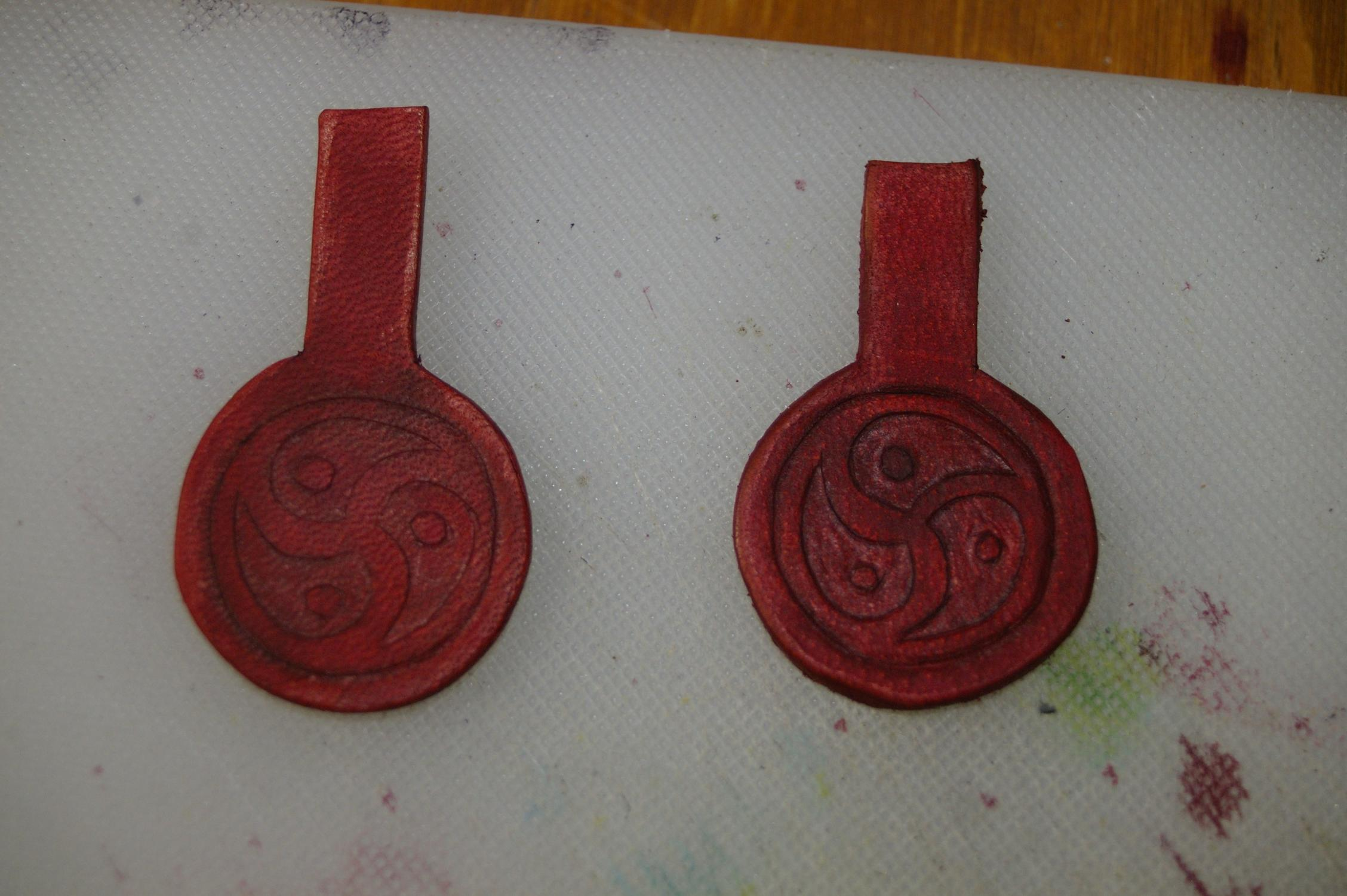 Picture of Punching Holes for Stitching