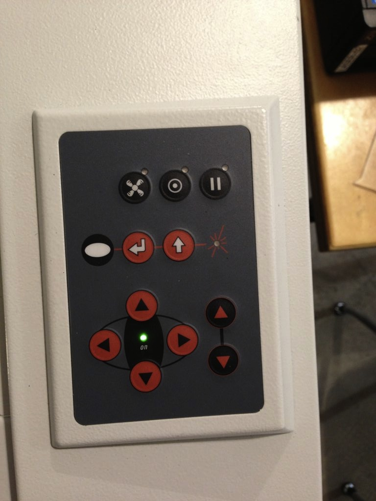 Picture of The Laser Cutter Control Panel
