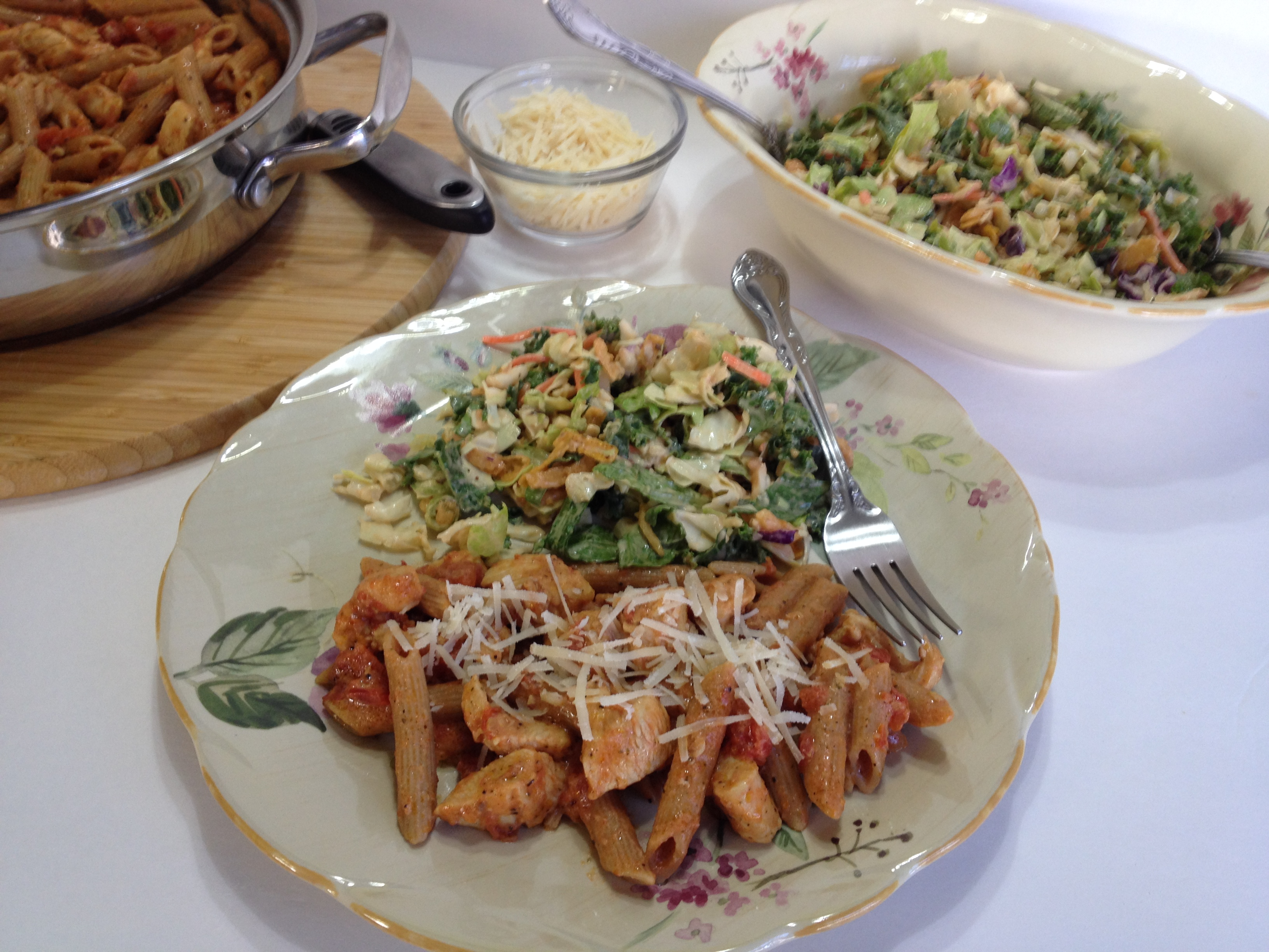 Picture of Herb and Chicken Penne With Creamy Italian Cheese