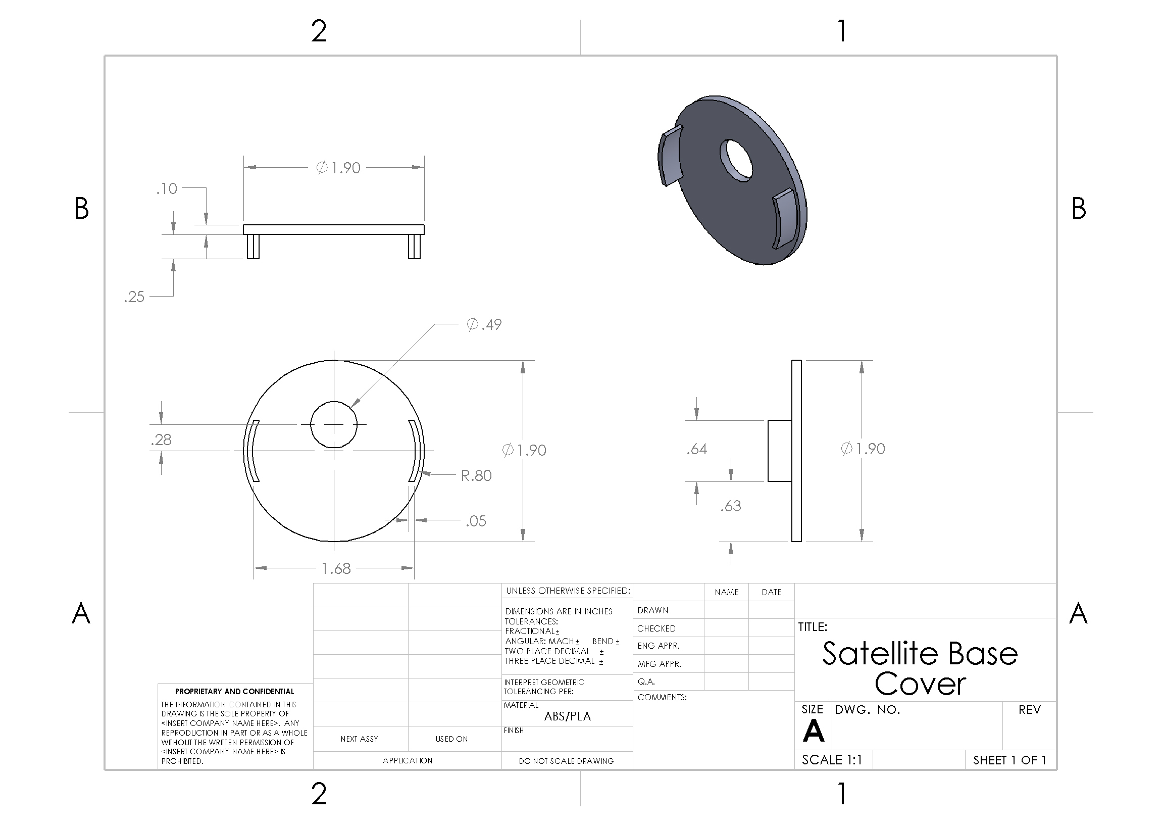 Picture of Schematics and Dimensions - Base Cover