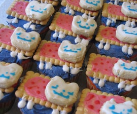 Rainbow Nyan Cat Cupcakes