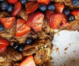 NUTELLA CROISSANT FRENCH TOAST BAKE