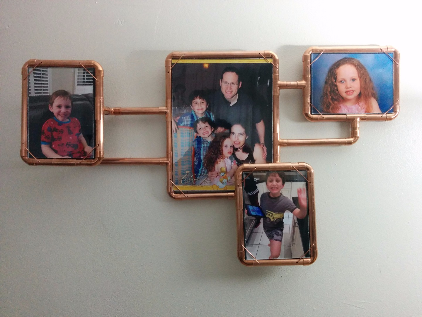 Picture of Copper Pipe Photo Frames