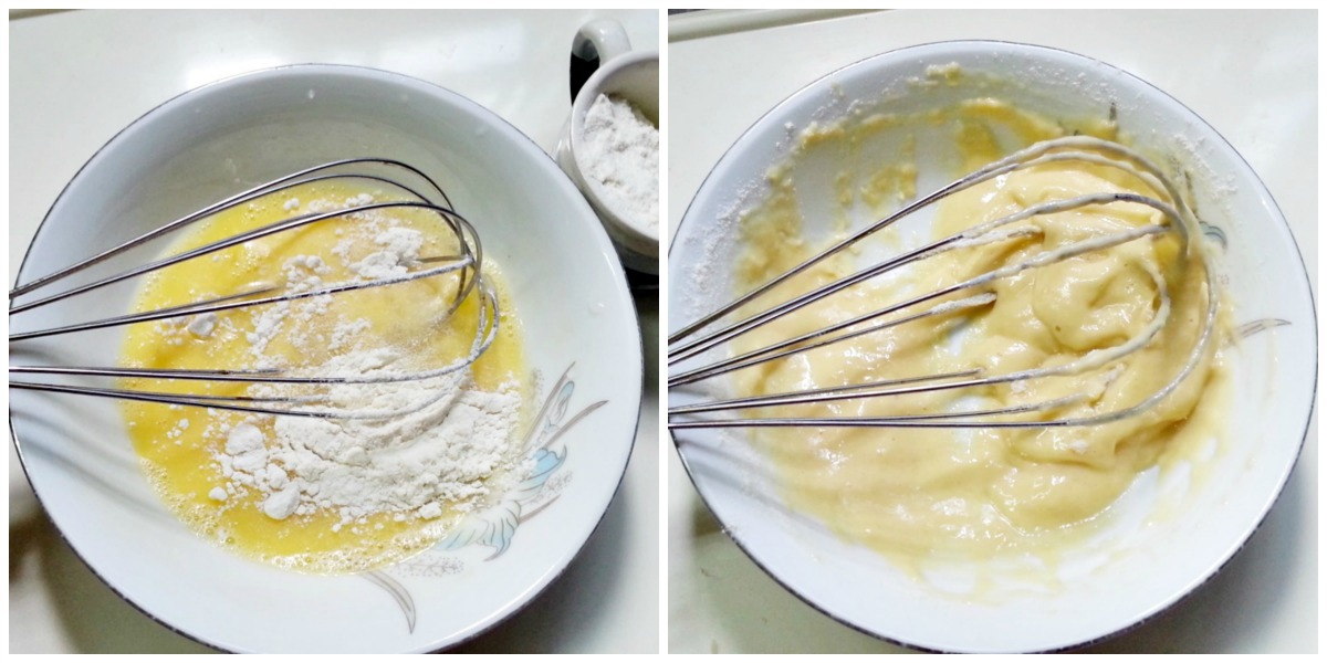 Picture of Mixing Egg and Flour