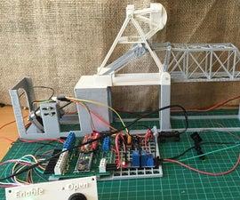 Building a 1:160 (N) Scale Model of a Bascule Style Railroad Draw Bridge