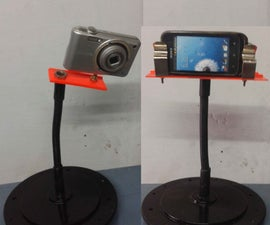 DIY FLEXIBLE & ROTATABLE STAND FOR ( SMARTPHONE/DIGITAL CAMERA)
